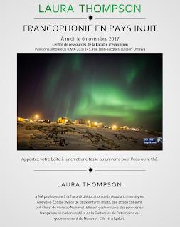 """Laura Thompson: """"Francophonie en Pays Inuit"""""""