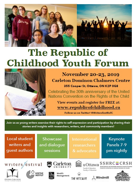 Republic of Childhood Youth Forum, Nov 20-22 '19